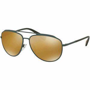 Prada Polarized Aviator Sunglasses Brown G…
